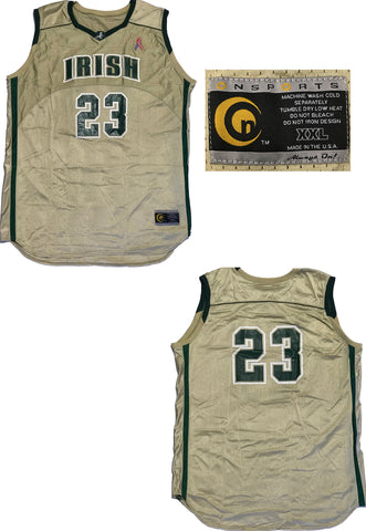 LeBron James Game Used St. Vincent-St. Mary Irish High School Jersey (MEARS)