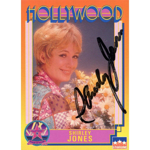 Shirley Jones Autographed Hollywood Card