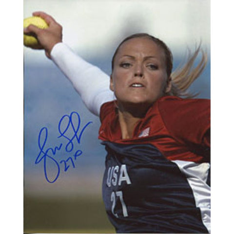 Jennie Finch Autographed/Signed 8x10 Photo