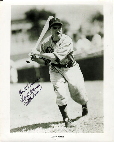 Lloyd Waner Autographed 8x10 JSA Certified Photo