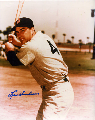 Lou Burdette Autographed 8x10 Pitching Photo
