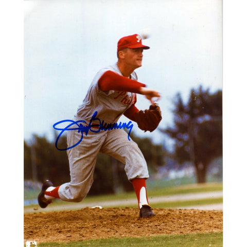 Jim Bunning Autographed 8x10  Phillies Photo