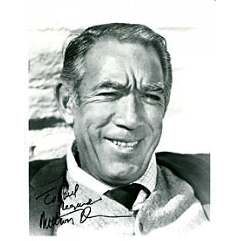 Anthony Quinn Autographed / Signed Black & White 8x10 Photo