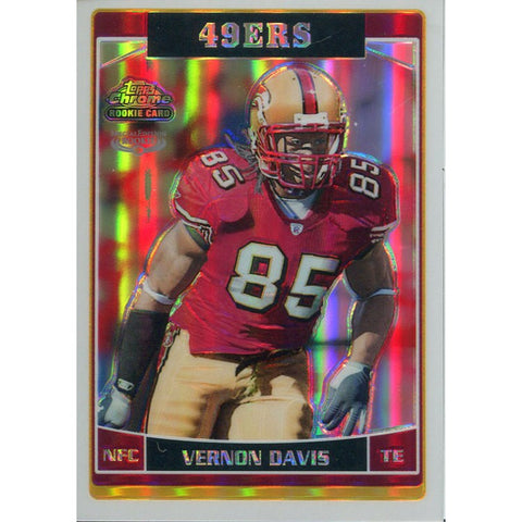 Vernon Davis Unsigned 2006 Topps Chrome Special Edition Refractor Rookie Card