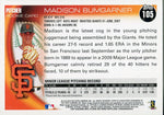 Madison Bumgarner Unsigned 2010 Topps Rookie Card