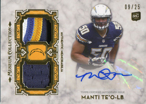 Manti Teo Autographed 2013 Topps Muesum Collection Rookie Jersey Card