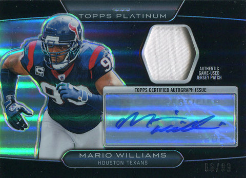 Mario Williams Autographed 2010 Topps Platinum Jersey Card