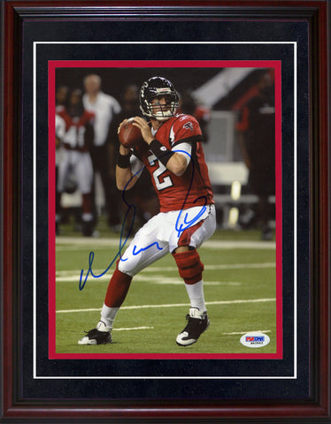 Matt Ryan Autographed Framed Atlanta Falcons 8x10 Photo (PSA)