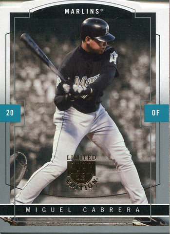 Miguel Cabrera Unsigned 2004 Fleer Card