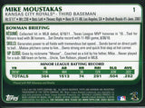 Mike Moustakas Unsigned 2011 Bowman Rookie Card