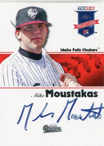Mike Moustakas Autographed 2008 Tristar Card