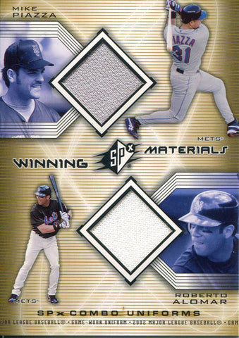Mike Piazza & Roberto Alomar 2002 Upper Deck Jersey SPx Card