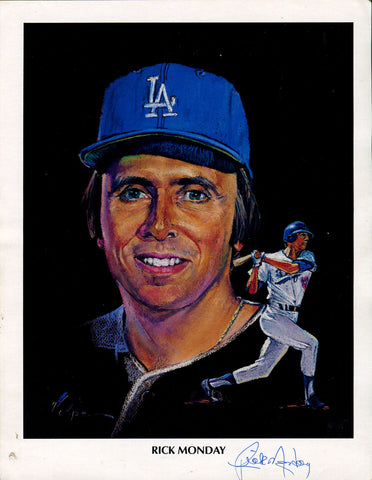 Rick Monday Autographed 8x10 Photo