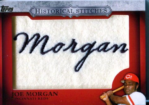 Joe Morgan Unsigned 2012 Topps Historical Stitches Card