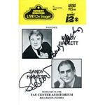 Buddy Hackett & Sandy Hackett Autographed / Signed Concert Showcase Program
