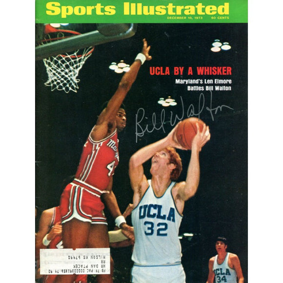 Bill Walton Autographed Sports Illustrated Magazine- December 10, 1973