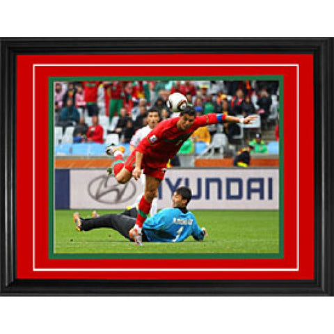 Cristiano Ronaldo Framed Ball Behind Back Portugal vs North Korea 11x14 Photo