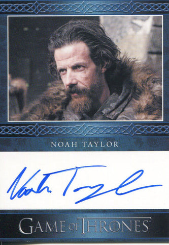 Noah Taylor Autographed 2013 Game of Thrones Card
