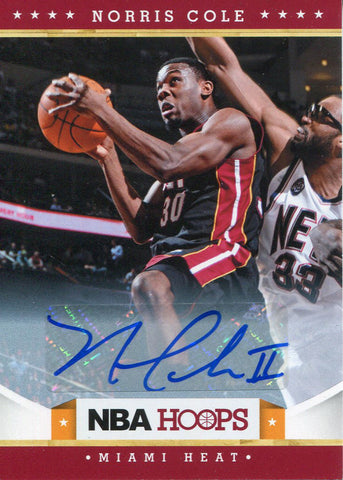 Norris Cole Autographed 2012-13 NBA Hoops Card
