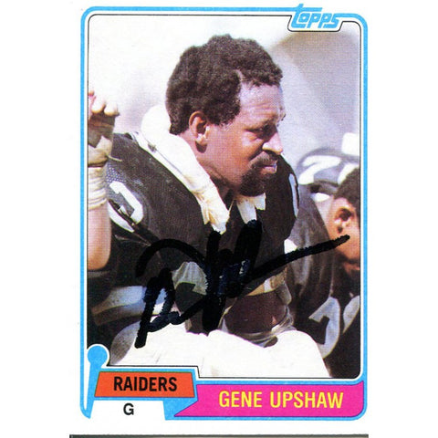 Gene Upshaw Autographed 1981 Topps Card