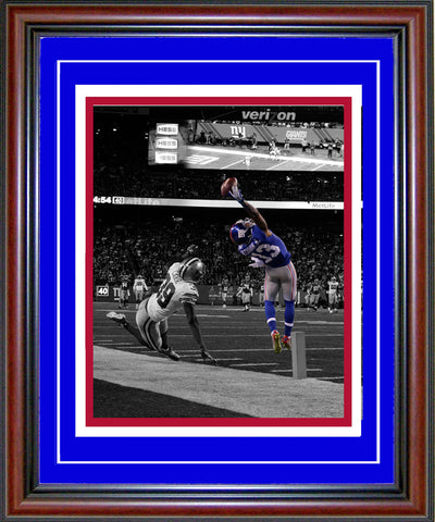 Odell Beckham Jr Framed One-Handed Touchdown Catch Spotlight 8x10 Photo