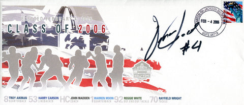 Omar Jacobs Autographed Class of 2006 HOF 1st Day Cover