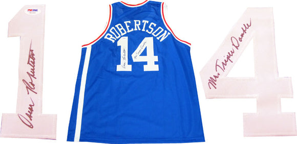 Oscar Robertson Mr. Triple Double Autographed Cincinnati Royals Jersey (PSA/DNA)