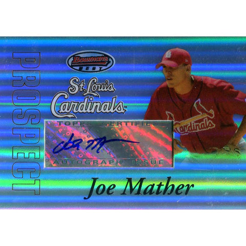 Joe Mather Autographed 2007 Bowman's Best Card