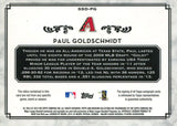 Paul Goldschmidt Autographed 2014 Topps Jersey Card Back