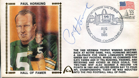 Paul Hornung Autographed Gateway First Day Cover