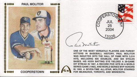 Paul Molitor Autographed July 25, 2004 First Day Cover