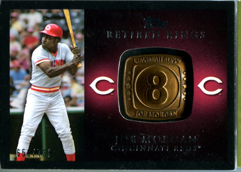 Joe Morgan 2012 Topps Retired Rings Card #653/736