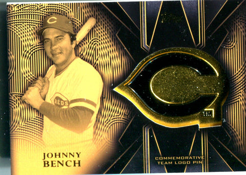 Johnny Bench 2016 Topps Team Logo Pin Card