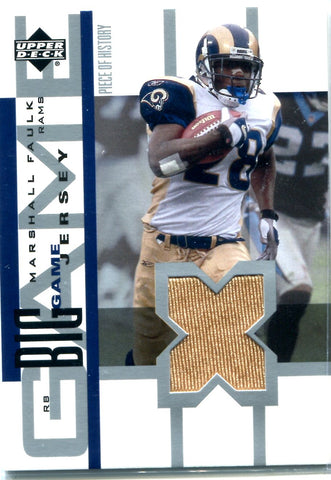 Marshall Faulk 2002 Upper Deck Game-Used Jersey Card