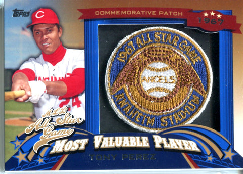 Tony Perez 2013 Topps Commemorative Patch Card
