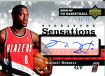 Martell Webster 2006 Upper Deck Signature Series Autographed Card #8/25