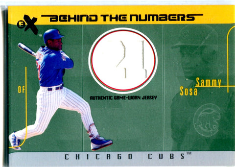 Sammy Sosa 2003 Fleer Game-Worn Jersey Card #63/500