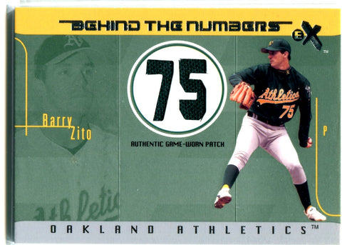 Barry Zito 2003 Fleer Game-Worn Jersey Card #74/99