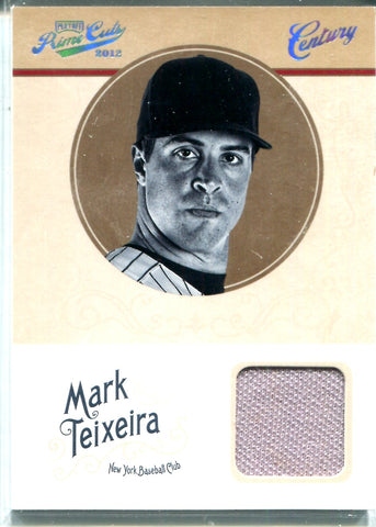 Mark Teixeira 2012 Panini Playoff Prime Cuts Game-Worn Memorabilia Card #47/49