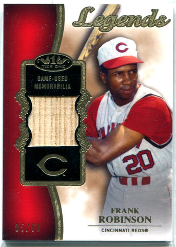 Frank Robinson 2012 Topps Tier 1 Game-Used Bat Card #5/50