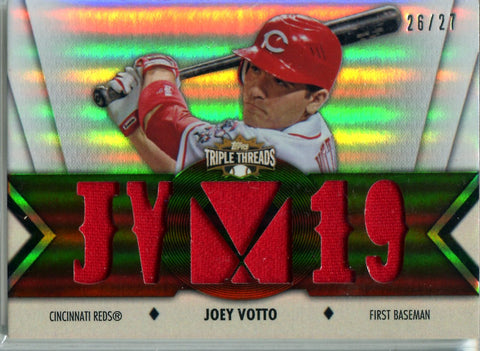 Joey Votto 2012 Topps Triple Threads Game-Used Memorabilia Card #26/27