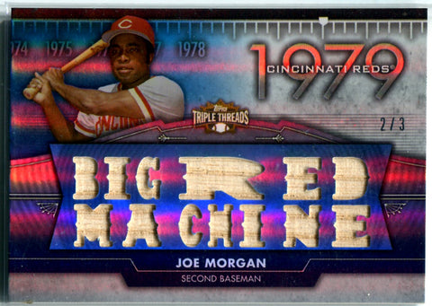 Joe Morgan 2012 Topps Triple Threads Game-Used Bat Card #2/3