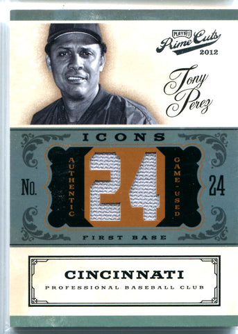 Tony Perez 2012 Panini Playoff Prime Cuts Game-Used Relic Card #1/24