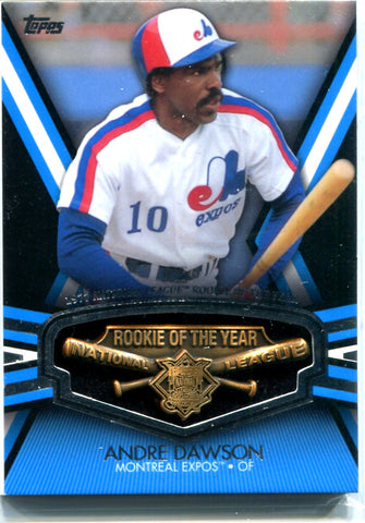 Andre Dawson 2013 Topps Commemorative Rookie of The Year Trophy Card