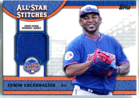 Edwin Encarnacion 2013 Topps Event-Worn Workout Jersey Card