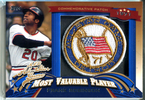 Frank Robinson 2013 Topps Commemorative Patch Card