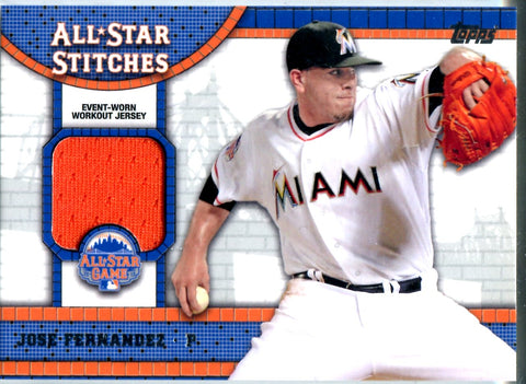 Jose Fernandez 2013 Topps All Star Game Workout Jersey Card