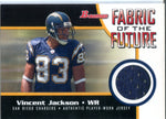 Vincent Jackson 2005 Bowman Fabric Of The Future Player-Worn Jersey Card