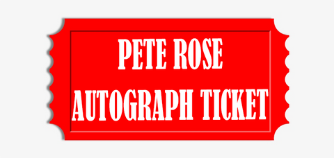 "Pete Rose ""I'm Sorry I Bet on Baseball"" Baseball Pre-Order Autograph Ticket"