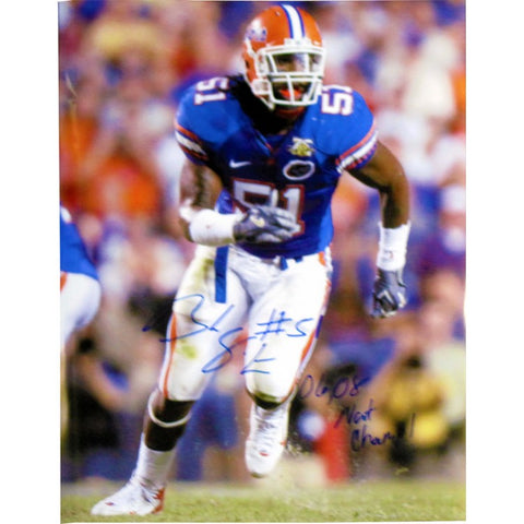 Brandon Spikes 06 08 Nat Champ Autographed 16x20 Photo